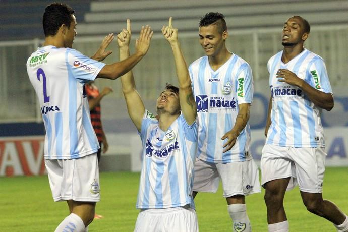 Gol de Aloísio, macaé x oeste (Foto: Tiago Ferreira / Macaé Esporte)