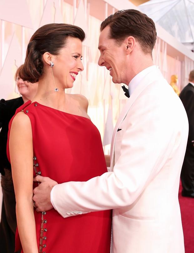 Benedict Cumberbatch e a mulher, Sophie Hunter (Foto: Getty Image)