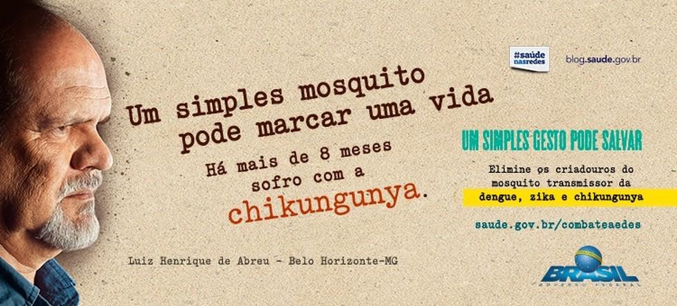Campanha contra o chikungunya lançada pelo Ministério da Saúde (Foto: Ministério da Saúde/Divulgação)