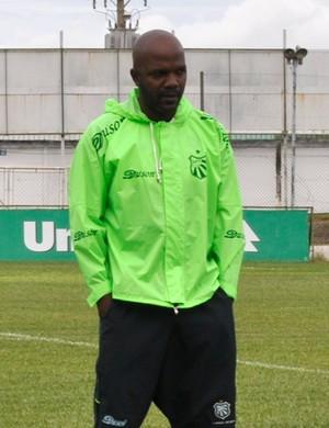 técnico Thiago Oliveira, da Caldense (Foto: Lúcia Ribeiro)
