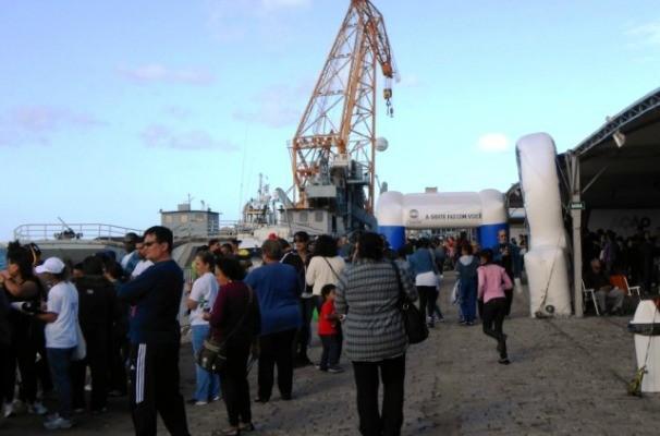Ação Global em Rio Grande reuniu grande público no Porto Velho (Foto: Viviane Mattarredona)