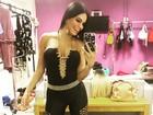 Leticia Lima posa com look sensual da personagem de 'A regra'