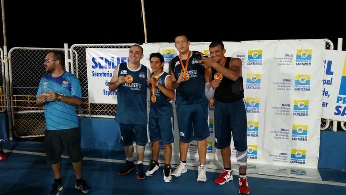 DW Esporte é o campeão da 8ª edição do torneio de basquete 3x3, na categoria adulta (Foto: Divulgação/Associação de Basquetebol de Santarém)