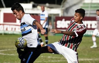 Flu empata com já eliminado Grêmio e  fica fora da semi do Brasileirão sub-20