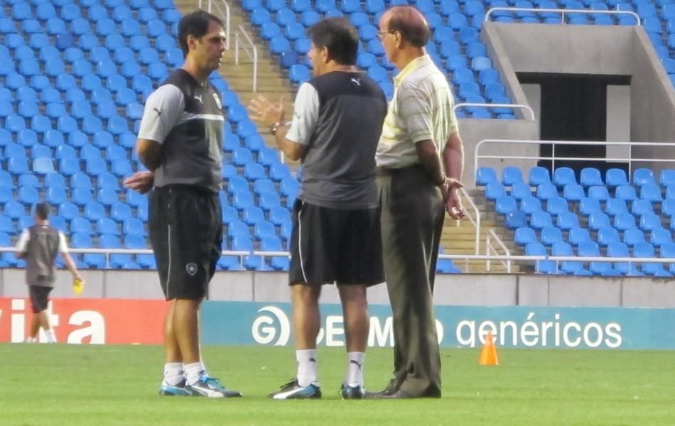 René Simões, Antônio Lopes, Marcello Campello Botafogo treino