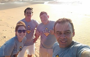 Bastidores do Rota Inter TV (Foto: Larissa Cavalcante)