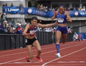 atletismo Jenna Prandini Allyson Felix (Foto: Reprodução/ Twitter GoTrackTownUSA)