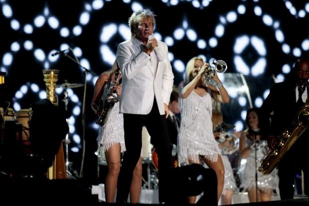 Rod Stewart se apresenta no palco Mundo (Foto: Johnson Parraguez / Foto Rio News)
