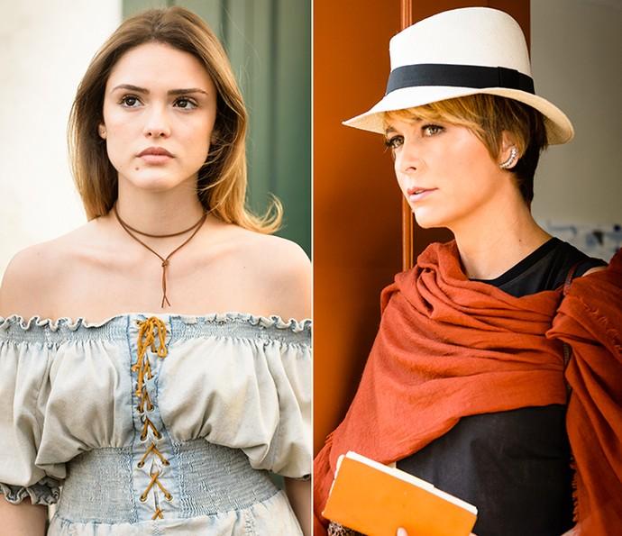 Isabelle e Cládia são Helô em 1ª e 2ª fases de 'A Lei do Amor' (Foto: TV Globo)