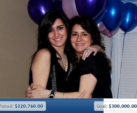 Celeste e Sydney Corcoran: mãe e filha conseguem doação de mais de US$ 200 mil menos de 24 horas (Foto: GoFundMe/Reprodução Internet)