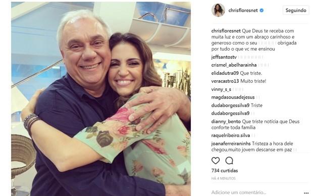 Chris Flores lamenta morte de Marcelo Rezende (Foto: Reprodução/Instagram)