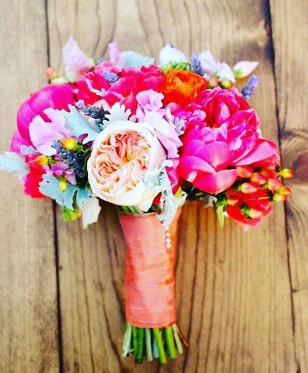 Buquê de flores do projeto social (Foto: Divulgação)