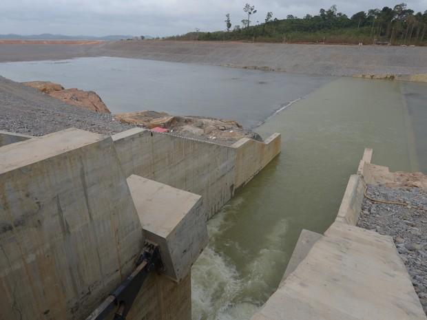 Vertedouro do canal de derivação da usina de Belo Monte (Foto: Betto Silva/Norte Energia)
