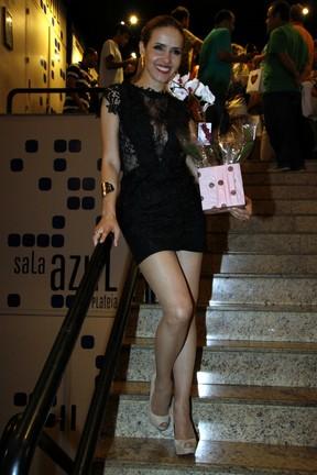 Leona Cavalli em estreia de peça no Rio (Foto: Graça Paes/ Foto Rio News)