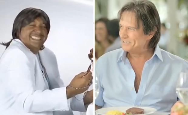 Tiririca em vídeo de campanha que parodia 'O portão' e Roberto Carlos no comercial da campanha original para a Friboi (Foto: Reprodução / YouTube)