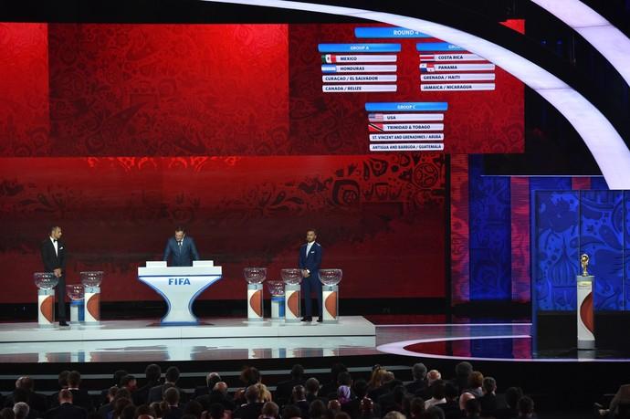 Sorteio eliminatórias Copa do Mundo 2018 (Foto: AFP)