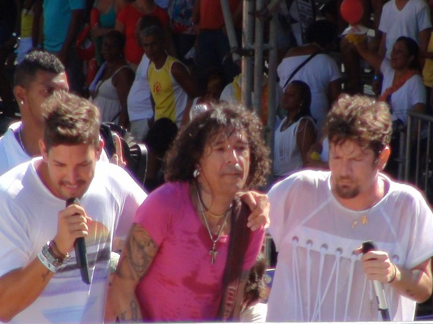 Luiz Caldas, Saulo e Felipe (Foto: Midiã Noelle)