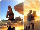 Max Porto posta foto com namorada em praia em clima de romance