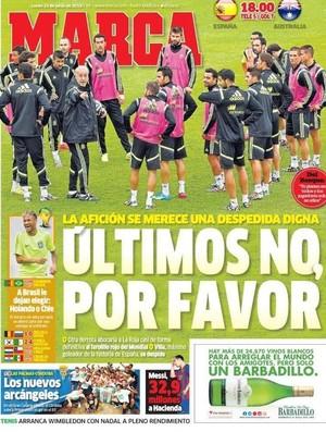 Capa jornal Marca (Foto: Reprodução)