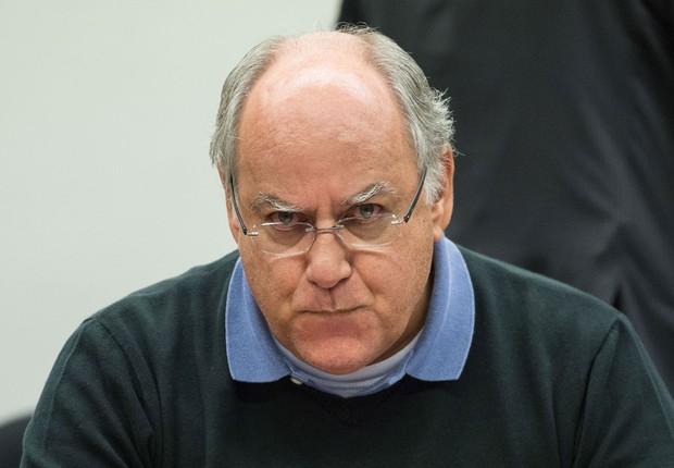 O ex-diretor da Petrobras Renato Duque presta depoimento à CPI na Câmara (Foto: Marcelo Camargo/Agência Brasil)