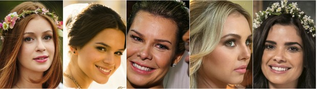 Nas novelas e na vida real: noivas devem apostar em maquiagem natural para não errar no dia do casamento (Foto: TV Globo/Divulgação)