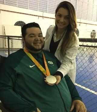 Dirceu Pinto medalha de prata bocha paralímpica (Foto: Bruno Oliveira)