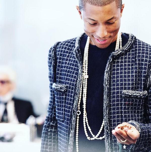 Pharrell Williams na última apresentação da Chanel (Foto: Reprodução Instagram)