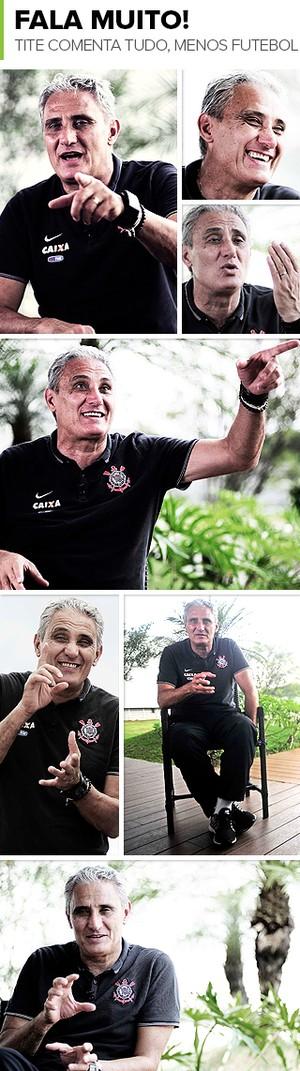 Mosaico Tite Corinthians (Foto: infoesporte)