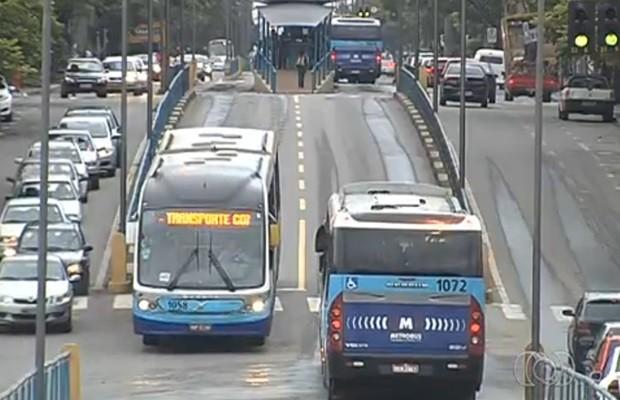 Atualmente, Eixo Anhanguera transporta cerca de 200 mil passageiros por dia (Foto: Reprodução/TV Anhanguera)