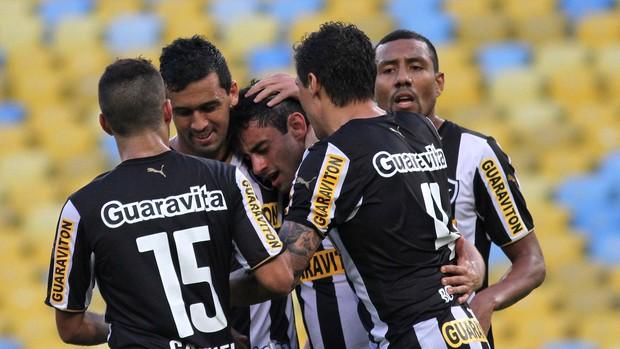 daniel gol botafogo x santos (Foto: Satiro Sodré/SS Press)