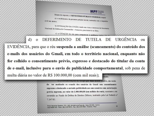 MPF-PI solicita pagamento de multa diária ao Google  (Foto: Divulgação/MPF-PI)