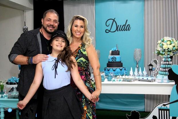 Andreia Sorvetão e Conrado fazem festa para a filha Duda (Foto: Wallace Barbosa/AgNews)