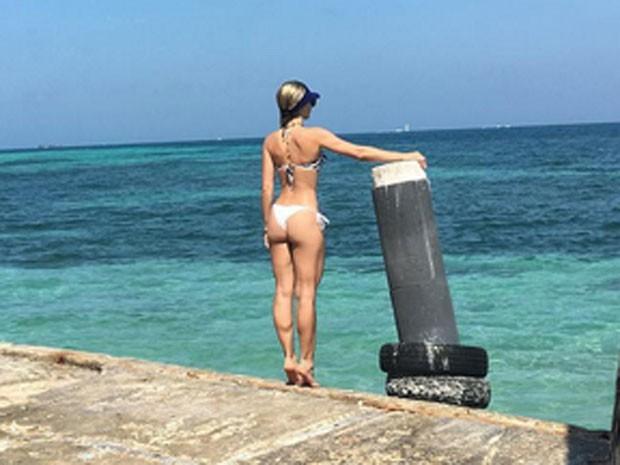 Monique Alfradique em Cartagena, na Colômbia (Foto: Instagram/ Reprodução)