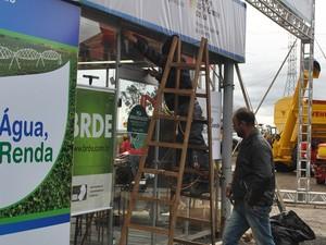 Dia foi de recuperação na Expointer em Esteio, RS  (Foto: Luíza Carneiro/G1 RS)