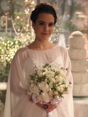 Vestido de noiva de Lara (Foto: Pedro Curi/TV Globo)
