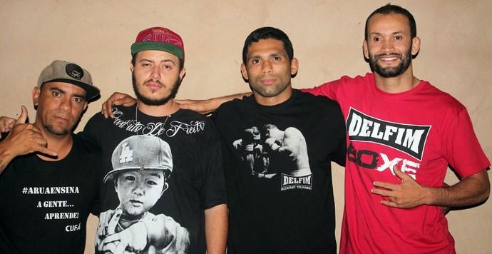 Lutador Cláudio Hannibal visita  instituição de caridade (Cufa) antes de luta no UFC (Foto: Arquivo Pessoal)