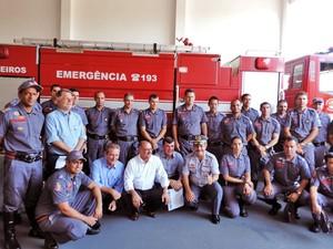 Corpo de Bombeiros de Teodoro Sampaio recebeu batalhão (Foto: Carolina Mescoloti/G1)