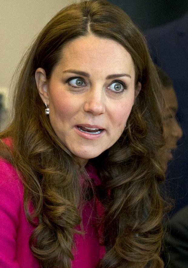 Kate Middleton na última aparição da duquesa de Cambridge antes de dar à luz segundo filho (Foto: AFP)