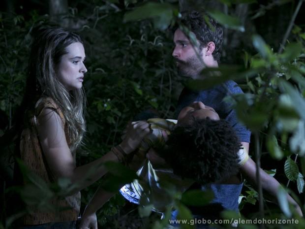 Nilson conta que foi picado por uma cobra (Foto: Além do Horizonte/TV Globo)
