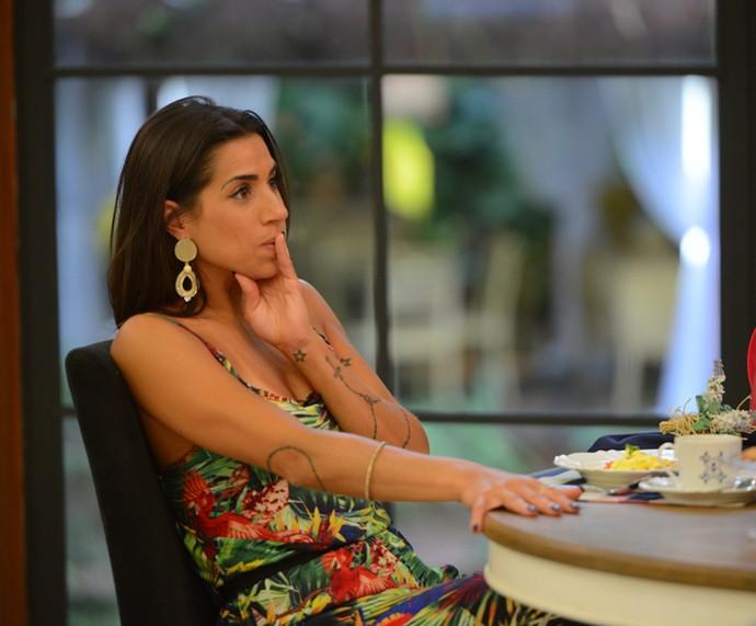 Juliana desabafa sobre a combinação de votos na casa (Foto: Pedro Carrilho / Gshow)