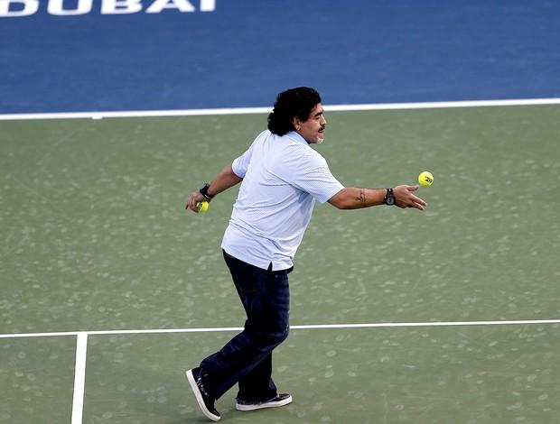 Tênis maradona atp de dubai (Foto: Agência Reuters)