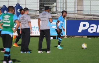 Roger não indica time do Gre-Nal em treino de reservas; Bolaños sai antes