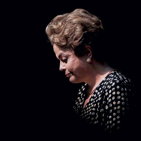 Dilma Rousseff, então presidente num evento em Brasília (Foto: Ueslei Marcelino / Reuters )