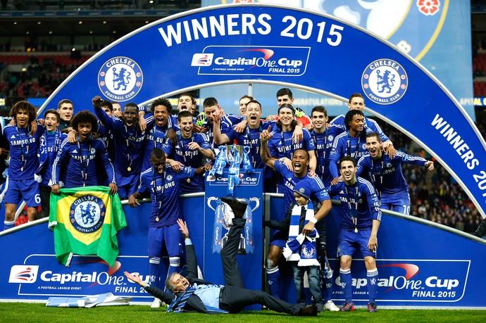 Chelsea é campeão da Copa da Liga Inglesa (Foto: Reuters)
