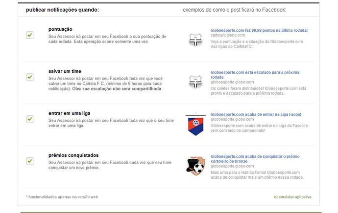 Guia Cartola tela Notificações do Assessor de Imprensa (Foto: Reprodução)