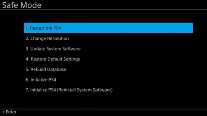 No modo de segurança seu PlayStation 4 poderá ser reparado (Foto: Divulgação)