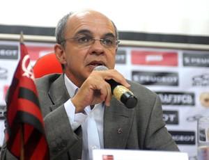 Eduardo Bandeira coletiva diretoria Flamengo (Foto: Alexandre Vidal / Fla Imagem)