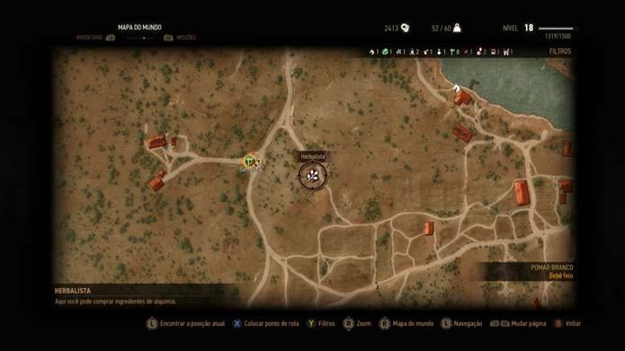 Vá até o local indicado no mapa (Foto: Reprodução/Murilo Molina)