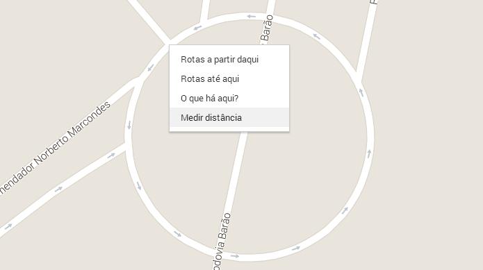Novo recurso permite medir distâncias no Maps (Foto: Reprodução/Helito Bijora)