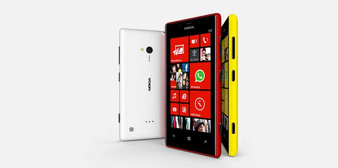 Lumia 720, por sua vez, tem um design um pouco mais compacto (Foto: Divulgação/Nokia)